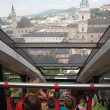 View form a funicular railway (Salzburg, Austria) — Stock Photo