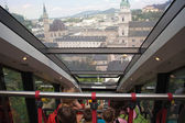 View form a funicular railway (Salzburg, Austria) — Stock Photo