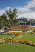 Mirabell Gardens and Hohensalzburg (Salzburg, Austria) — Stock Photo