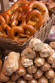 Pretzels and sweet bakeries on the matket — Stock Photo