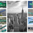 Streets signs of New York City - Stock Photo