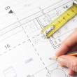 Planning for house construction — Stock Photo