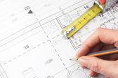 Planejamento para construção de casa — Fotografia Stock