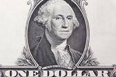Closeup 1 dollar bill — Stock Photo