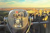 Coin operated binoculars, top of the rock (New York City) — Stock Photo