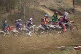 Start van motorcross race — Stockfoto