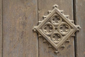 Old metal medieval door background — Stockfoto