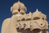 The roof of Casa Mila in Barcelona (Spain) — Stock Photo