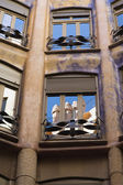 Casa Mila in Barcelona (Spain) — Stock Photo