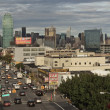 View of traffic on Queens Boulevard. Vertically. — Stock Photo #25350999