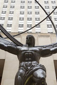 Atlas statue on Fifth ave in Manhattan — Stock Photo