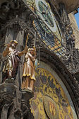 Astronomical clock (Prague, Czech Republic) — 图库照片