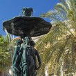 Fountain in the square Reila (Barcelona) — Stock Photo