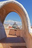 Sagrada Familia from Casa Mila Roof — Stock Photo