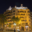 Casa Mila at night (Barcelona, Spain) — Stock Photo