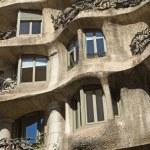 Close-up view of Casa Mila facade. Horizontally. — Stock Photo #30736445