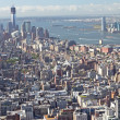 Aerial view of Lower Manhattan with New Jersey — Stock Photo