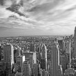 Monochromatic view of Manhattan (NYC, USA) — Stock Photo