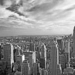 Monochromatic view of Manhattan (NYC, USA) — Stock Photo