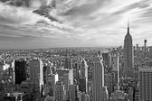 Monochromatic view of Manhattan (NYC, USA) — Stockfoto