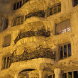 Casa Mila at night. Vertically. — Stock Photo