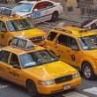 Stock Photo: Yellow cabs at Times Square (NYC)