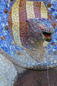 Ceramic sculptures at Parc Guell in Barcelona — Stock Photo