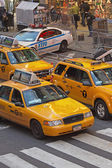 Yellow cabs at Times Square (NYC) — Stock Photo