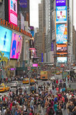Times Square in New York City. Vertically. — Stock Photo