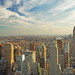 Midtown Manhattan at sunset — Stock Photo