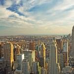 Midtown Manhattan at sunset — Stock Photo