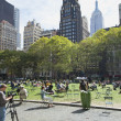 Stock Photo: Siestat Bryant Park (Midtown Manhattan, New York City)