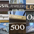Brands of Luxury Shops on Fifth Avenue — Stock Photo