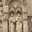 Close-up view of medieval statues (Barcelona) — Stock Photo #38106759
