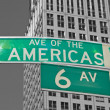 Stock Photo: Signs for Sixth Avenue in NYC