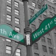 Stock Photo: Street signs for John Bigelow Plazin NYC
