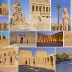 Travel to Egyptian temples — Stock Photo