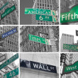 Stock Photo: Avenues and streets signs od NYC