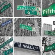 Avenues and streets signs od NYC — Stock Photo