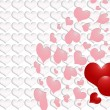Valentines Day - red and pink hearts — Stock Photo