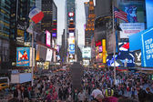 Times Square at night (New York City, USA) — Stock Photo