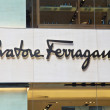 Stock Photo: Salvatore Ferragamo company sign