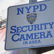 Stock Photo: NYPD Security Camera Area Sign