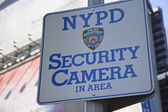NYPD Security Camera Area Sign — Stock Photo
