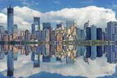 Lower Manhattan reflection. — Stock Photo