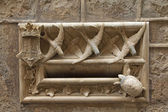 Detailed view of medieval architecture — Stock Photo