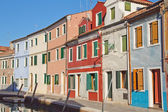 Burano color houses (Italy) — ストック写真