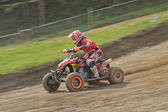 Dynamic shot of Quad racer riding — Stock Photo