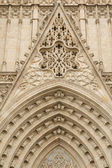 Entrance portal of Gothic Barcelona Cathedral — Stock Photo