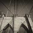 Vintage photo of Brooklyn Bridge (NYC) — Stock Photo